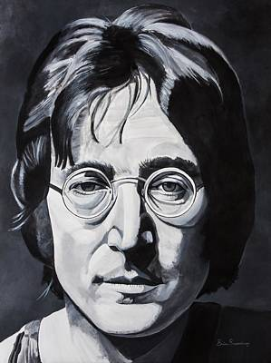 John Lennon Wall Art - Painting - The Walrus by Brian Broadway