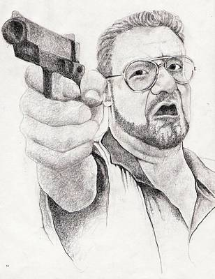 Lebowski Drawing - The Walter by Paul Smutylo