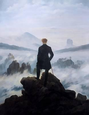 Caspar Digital Art - The Wanderer Above The Sea by Caspar David Friedrich