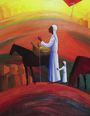 Painting - The Wandering Mary Magdalene by Israel Tsvaygenbaum