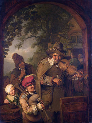 Painting - The Wandering Musicians by Christian Wilhelm Ernst Dietrich