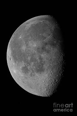Waning Gibbous Moon Photograph - The Waning Gibbous Moon And Lunar by John Chumack