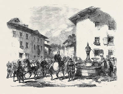 3rd Corps Drawing - The War Arrival Of The Second Division Of The 4th Corps by English School