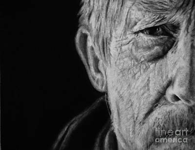 Closeup Drawing - The War Doctor by Jessica Zint