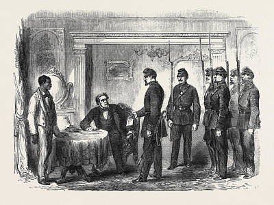 The War In America Arrest Of Mr Print by French School