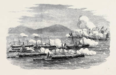 Mandarin Drawing - The War In China The Battle Of Escape Creek Commodore by Chinese School