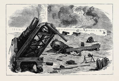 The War In Egypt After The Bombardment Of Alexandria Art Print by Egyptian School