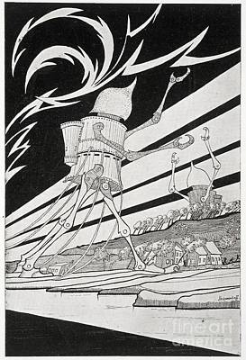 The War Of The Worlds, 1899 Edition Art Print by British Library