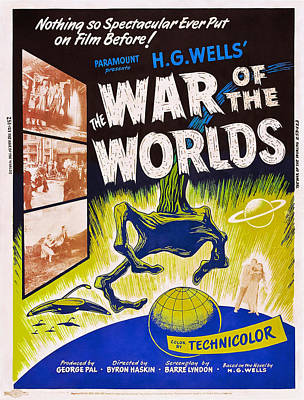 Jbp10ma14 Photograph - The War Of The Worlds, Poster Art, 1953 by Everett