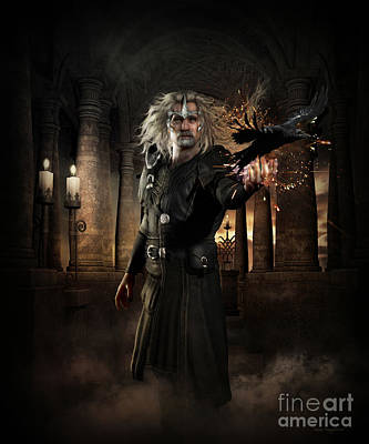 Themes Digital Art - The Warlock by Shanina Conway
