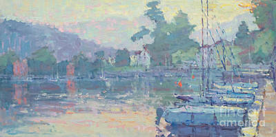 Lake Como Painting - The Warmth Of Grey by Jerry Fresia