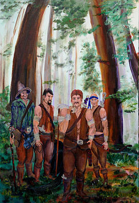 Painting - The Warriors by Gail Daley