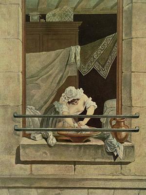 The Washerwoman, Engraved By J. Laurent Art Print by Augustin de Saint-Aubin