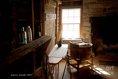 Photograph - The Washroom Mennonite Preacher House by Artist and Photographer Laura Wrede