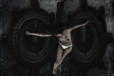 Jesus Crucifixion Photograph - The Watch Cross by Ramon Martinez