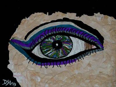 Mixed Media - The Watcher by Deborah Stanley