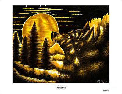 The Watcher Art Print by Jonas Jeque