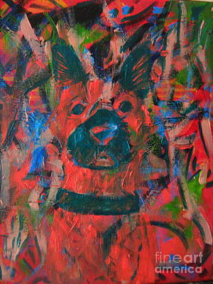 Art Print featuring the painting The Watcher by Wendy Coulson