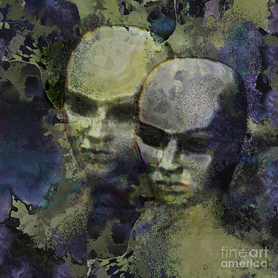 Digital Art - The Watchers by Ursula Freer
