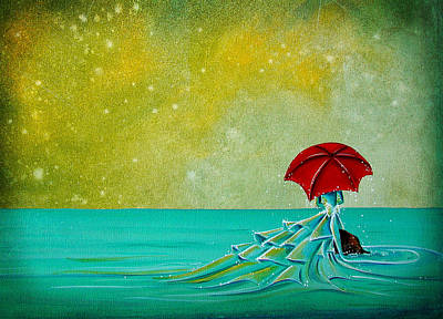 Umbrella Painting - The Watchful Seas by Cindy Thornton