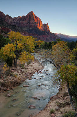 Stream Photograph - The Watchman At Autumn by Andrew Soundarajan