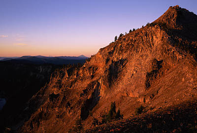 The Watchman At Sunrise, Crater Lake Art Print by Panoramic Images