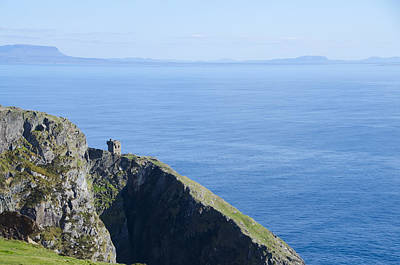 Slieve League Photograph - The Watchtower At Slieve League by Bill Cannon