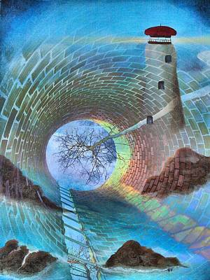 Merging Mixed Media - The Watchtower by Tom Druin