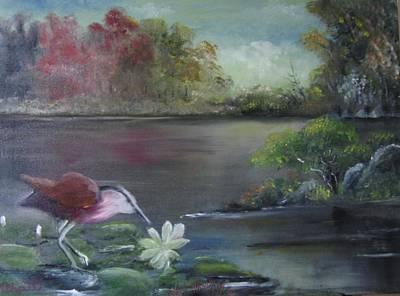 The Water Bird Art Print by M Bhatt