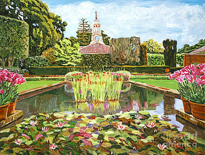 Spring Scenery Painting - The Water Lily Pond by David Lloyd Glover
