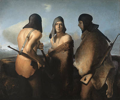 Naked Man Painting - The Water Protectors by Odd Nerdrum