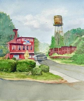 East Hampton Painting - The Water Tower by Katherine  Berlin