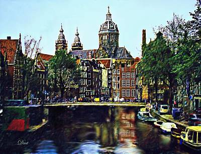 The Water Way Amsterdam Art Print by Dmt