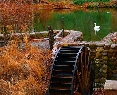 Grist Mill Photograph - The Water Wheel by Paul Ward