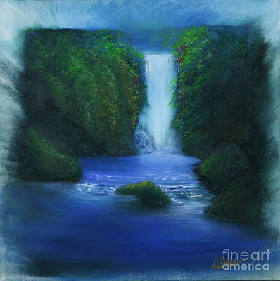Painting - The Waterfall by David Kacey