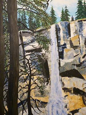 Cascading Painting - The Waterfall by Mountain Dreams