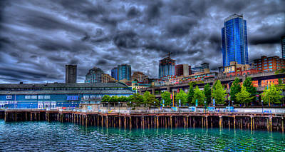 Seattle Waterfront Photograph - The Waterfront - Seattle Washington by David Patterson