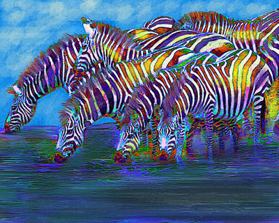 Digital Art - The Waterhole by Jane Schnetlage