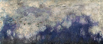 Monet Photograph - The Waterlilies - The Clouds Central Section 1915-26 Oil On Canvas See Also 64184 & 64186 by Claude Monet