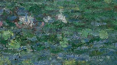 The Waterlily Pond Green Harmony Art Print by Claude Monet