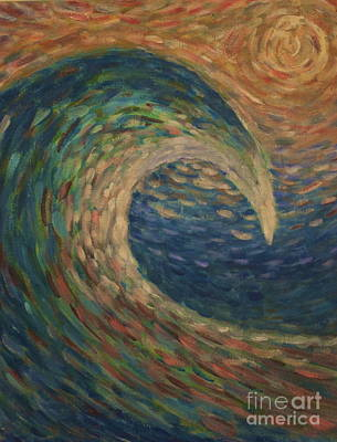 Painting - The Wave by Amazing Jules