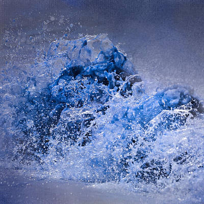 Photograph - The Wave - Blue Water Scene by Jai Johnson