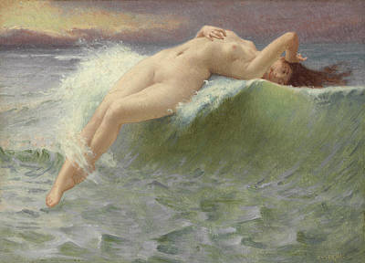 Body Surfing Painting - The Wave by Guillaume Seignac