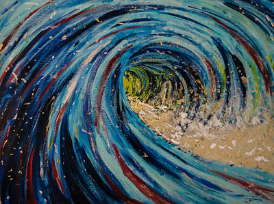 Painting - The Wave by Joel Tesch