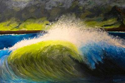 Painting - The Wave by Kathryn Barry