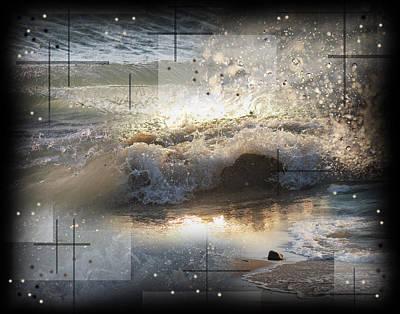 The Waves Of Lake Michigan Art Print by Andrew Sliwinski