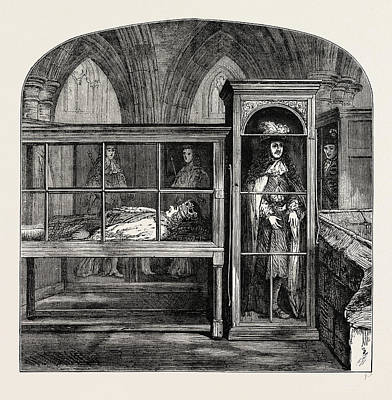 Westminster Abbey Drawing - The Wax Figures In Westminster Abbey London by Litz Collection