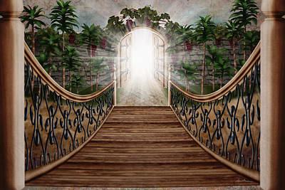 Fantasy Digital Art - The Way and the Gate by April Moen