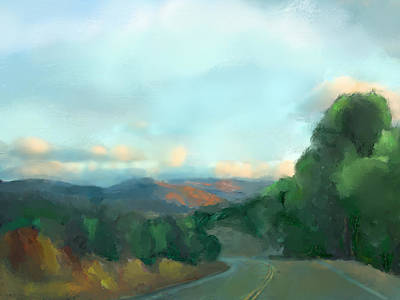 Landscape Painting - The Way Home by Karen Sperling