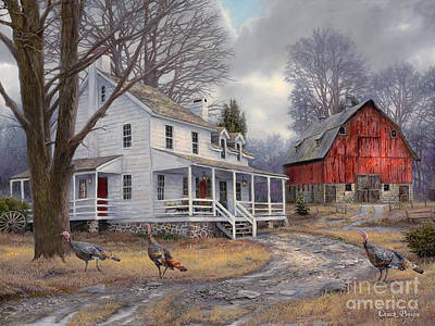 White Barn Painting - The Way It Used To Be by Chuck Pinson